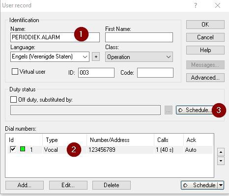 user record