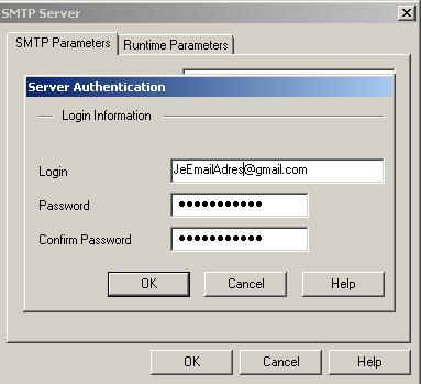 SMTP Server advanced settings