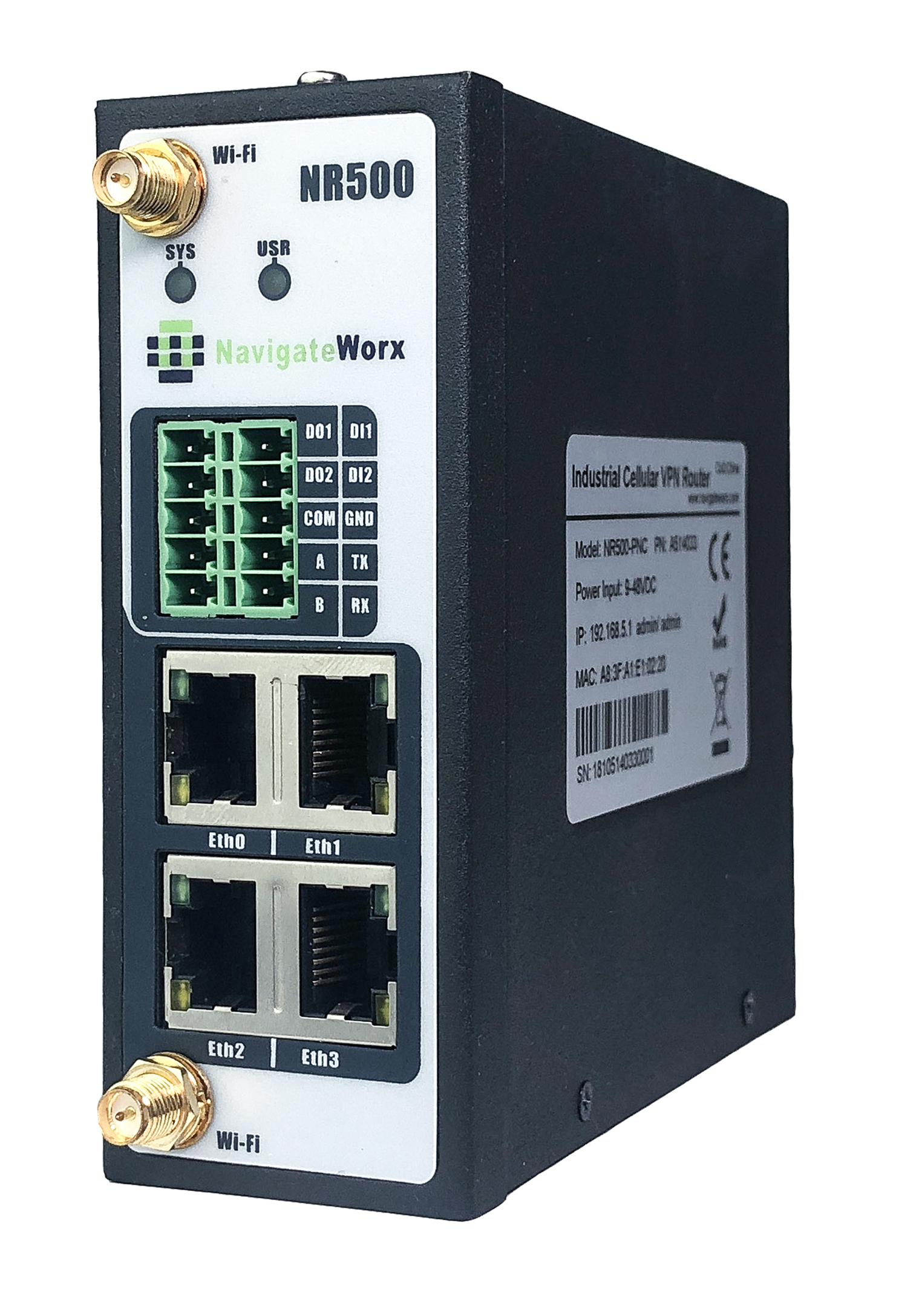 NR500 industriële VPN router
